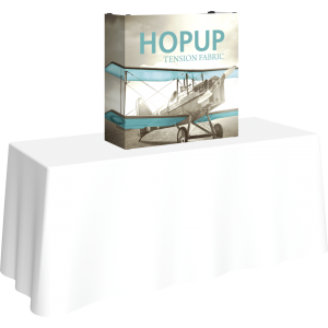 Hopup 2.5ft Straight Tabletop Tension Fabric Display